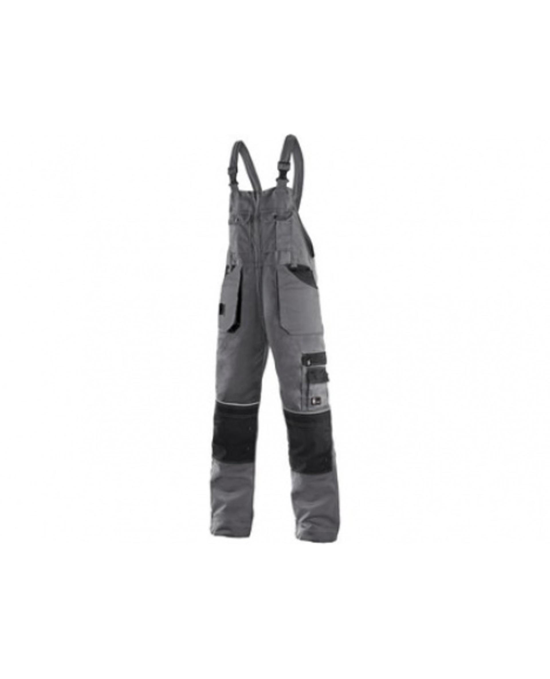 CXS ORION KRYŠTOF pánské Kalhoty s laclem šedá/černá 58