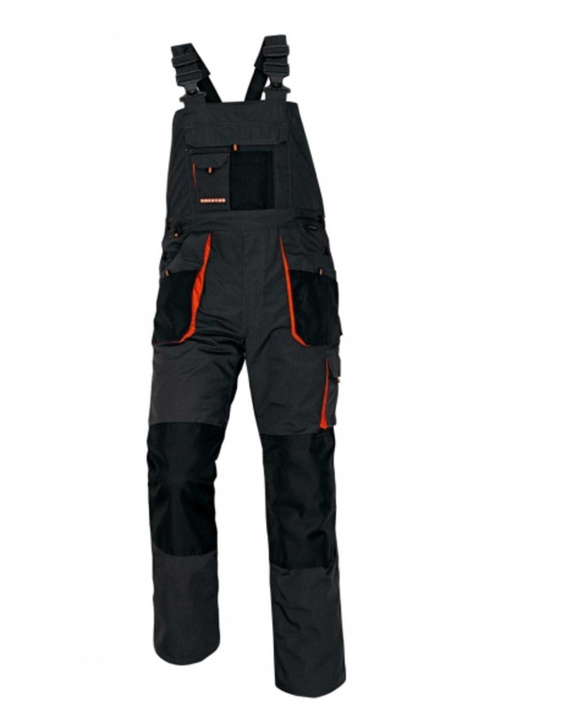 Cerva EMERTON Kalhoty pracovní s laclem černá 64