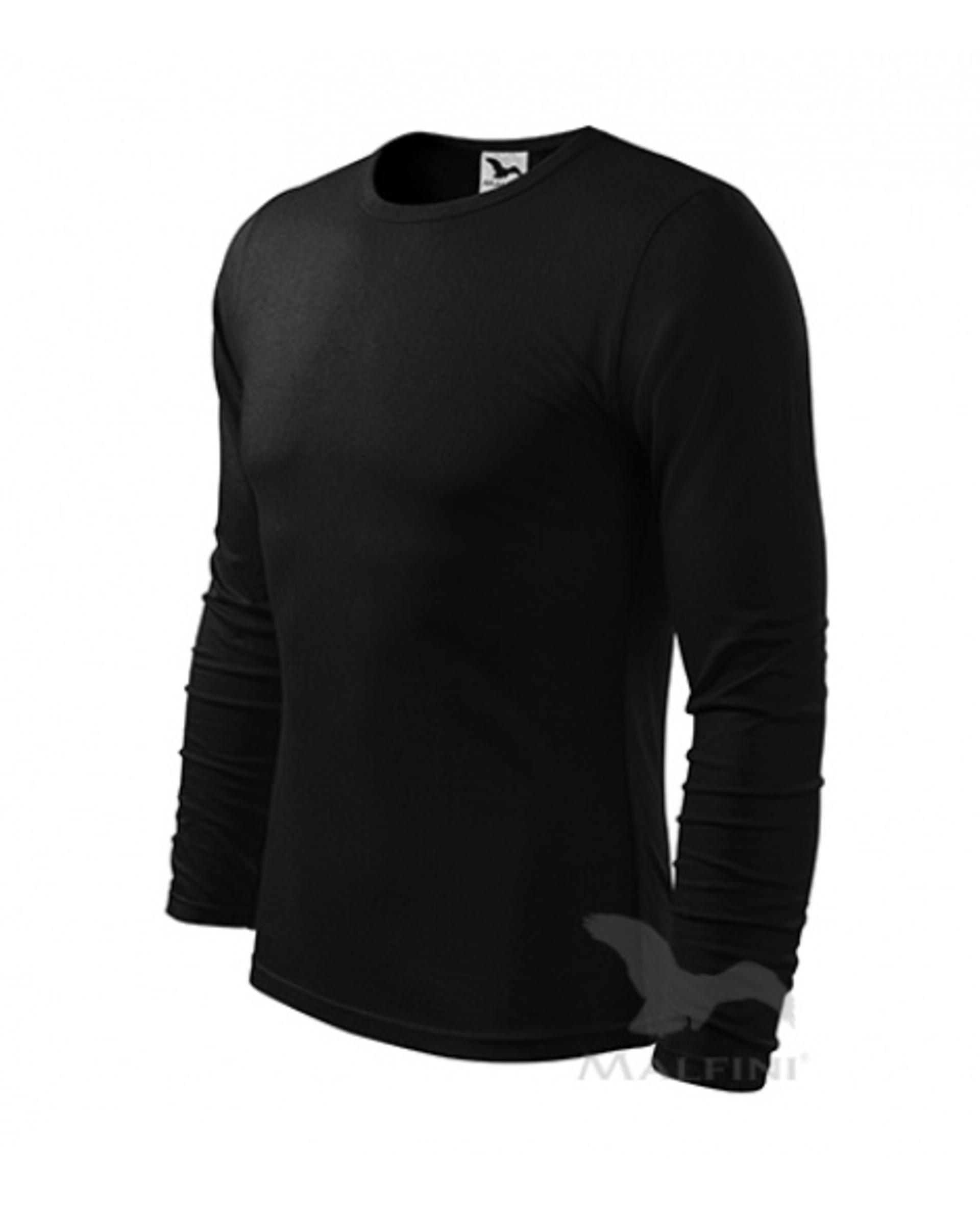 ADLER FIT-T LONG SLEEVE pánské dlouhý rukáv Tričko černá 3XL