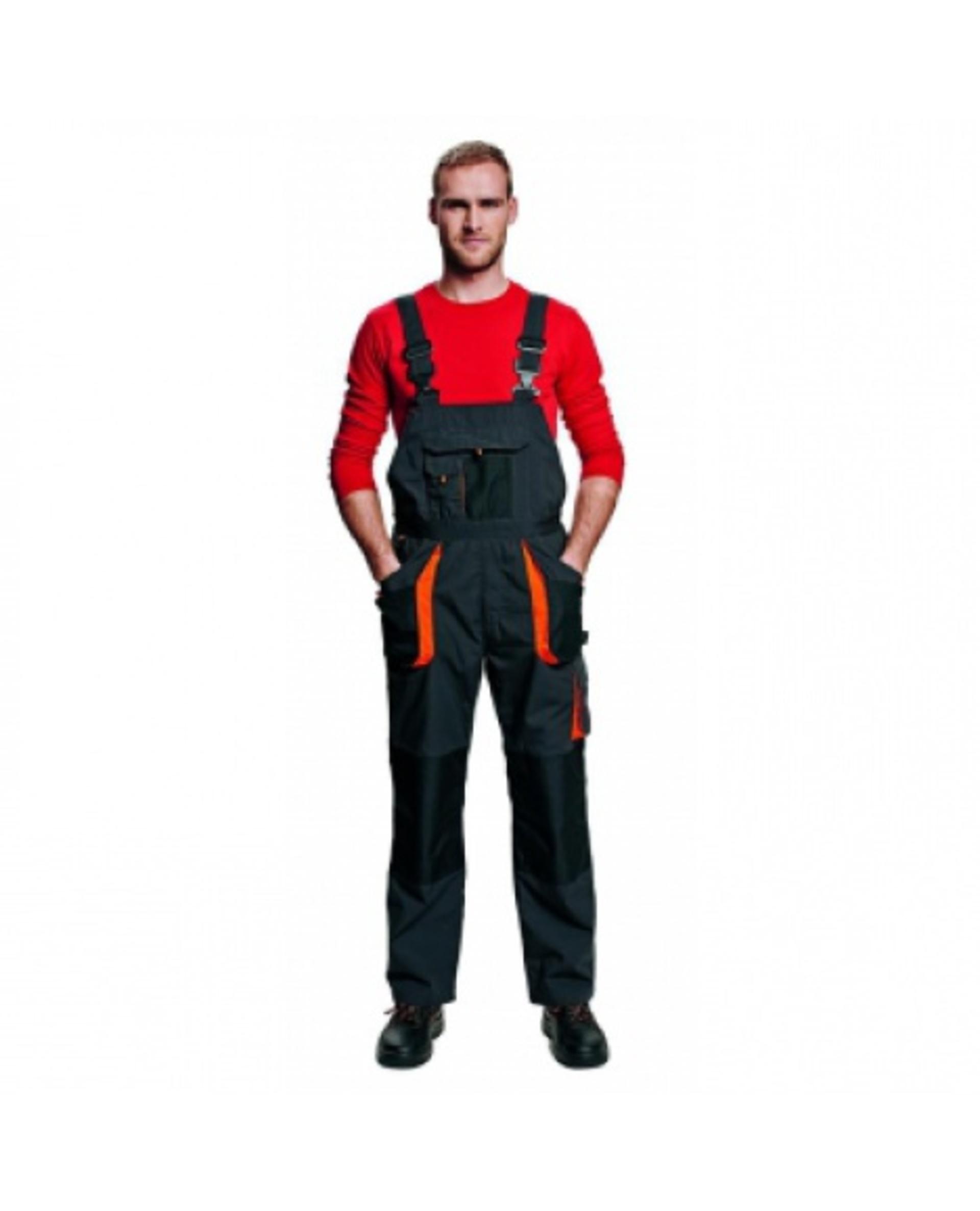 Cerva EMERTON FLANNEL Kalhoty zimní s laclem černá 50