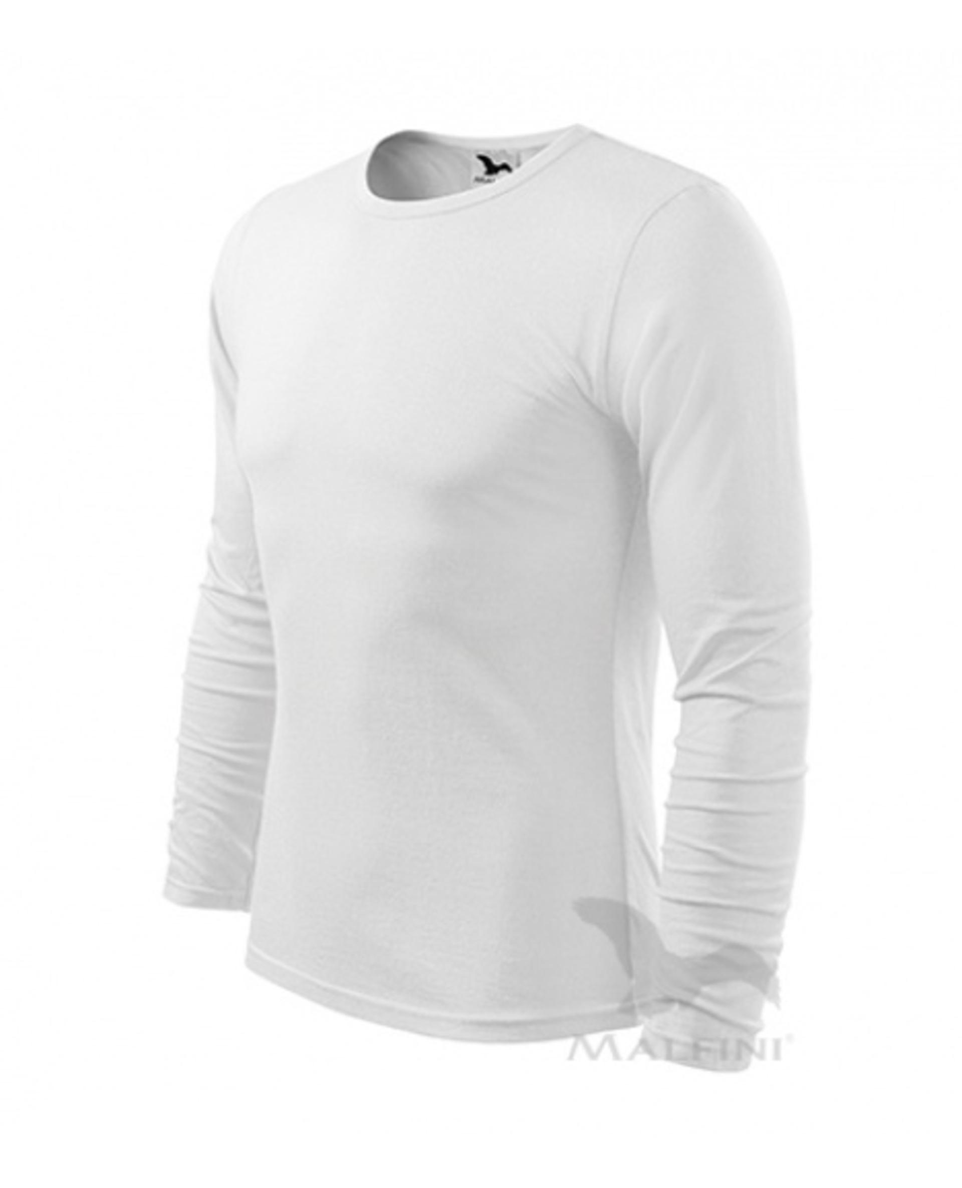 ADLER FIT-T LONG SLEEVE pánské dlouhý rukáv Tričko bílá S