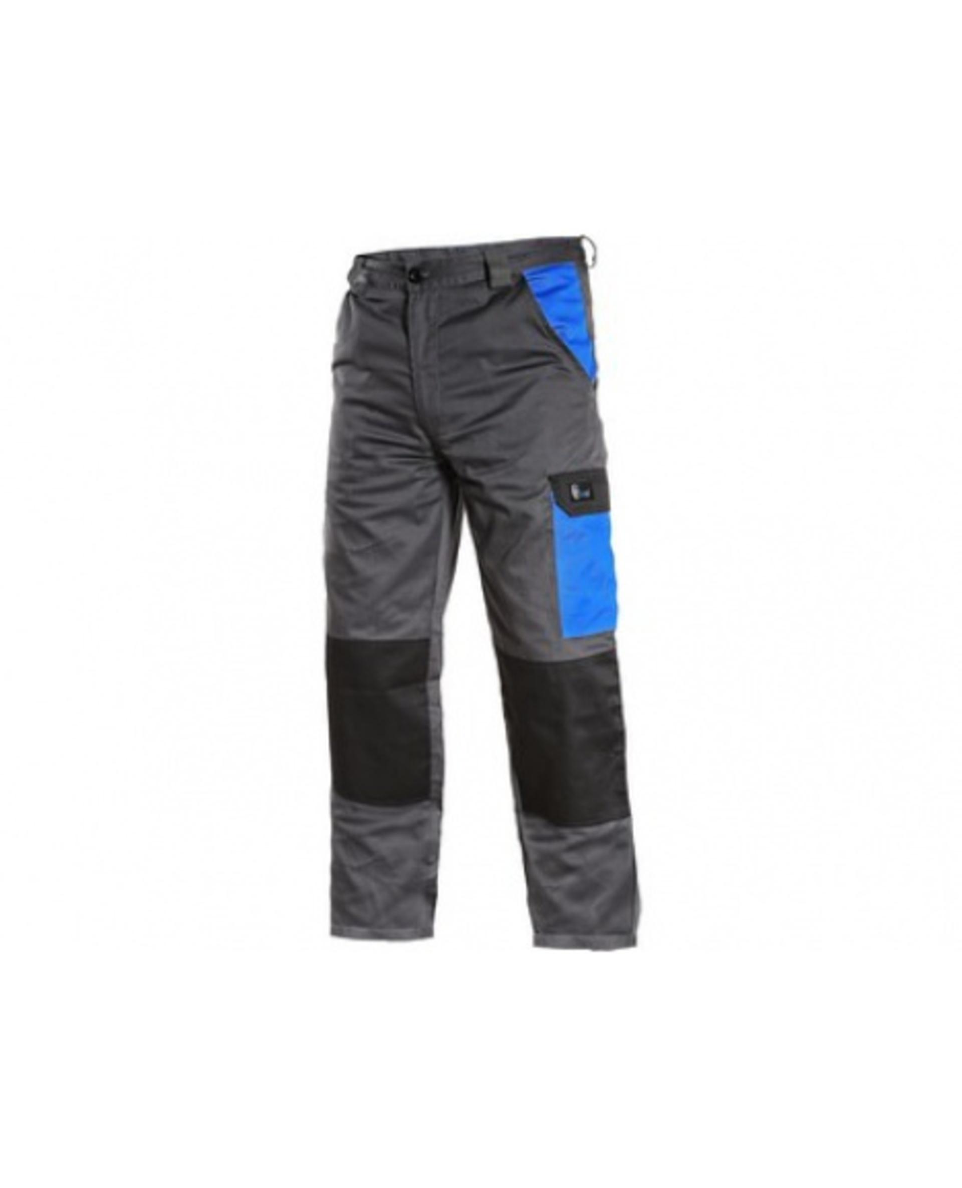 CXS PHOENIX CEFEUS pánské Kalhoty pracovní do pasu šedá/modrá 56