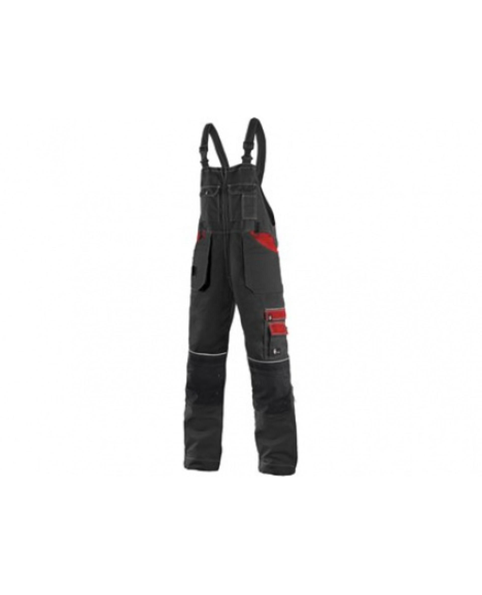 CXS ORION KRYŠTOF pánské Kalhoty s laclem černá/červená 58