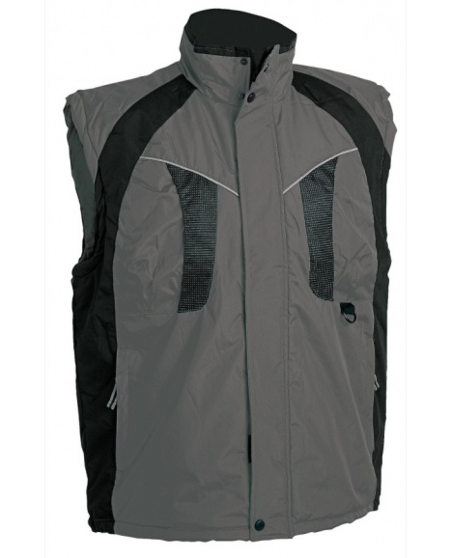 Cerva NYALA Vesta nepromokavá zimní šedá/černá XL