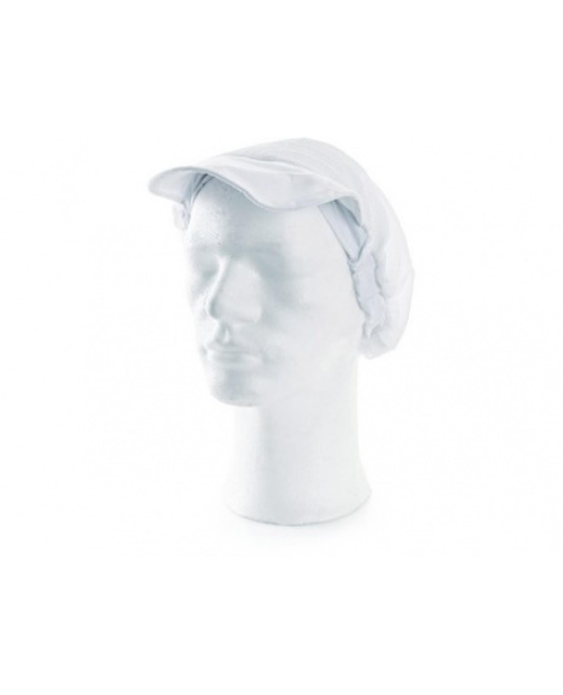 Nela kuchařská čepice s kšiltem bílá UNI