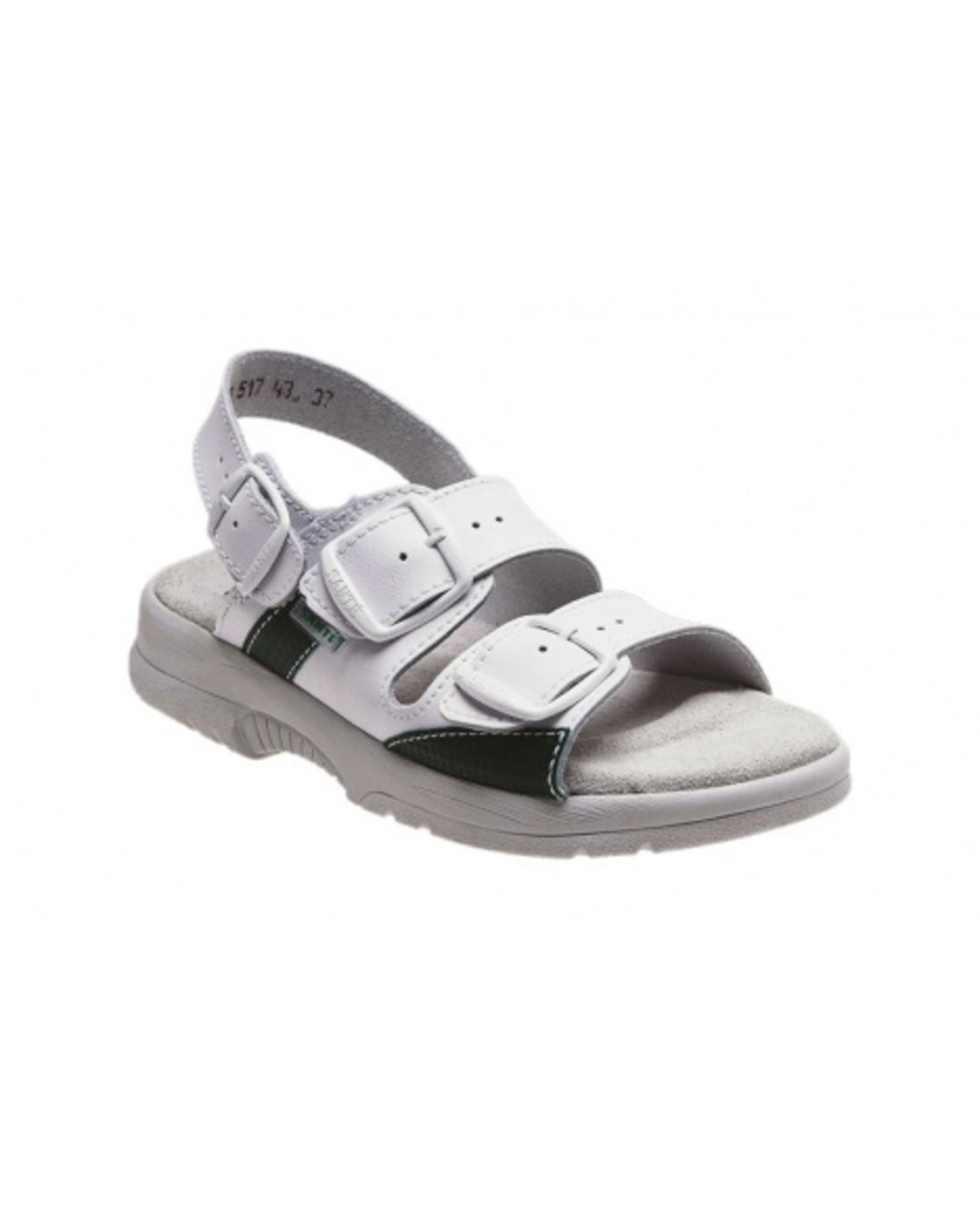 SANTÉ N/517/45/10 pánské Sandály bílá/zelená 42 + Bezplatné vrácení zboží