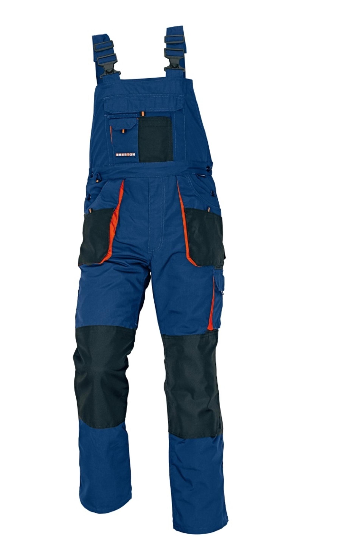 Cerva EMERTON Kalhoty pracovní s laclem námořnická modrá 48